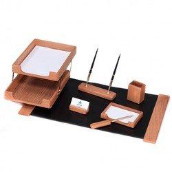 Набор настольный Good Sunrise K7D-35A деревянный 7 предметов фактура - дуб оттенок - светлый