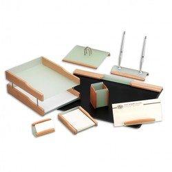 Набор настольный Good Sunrise LG/BH8AC-1A деревянный/акрил 8 предметов бук/зеленые элементы