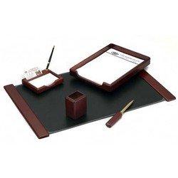 Набор настольный Good Sunrise M5B-5 деревянный 5 предметов фактура красное дерево оттенок темный