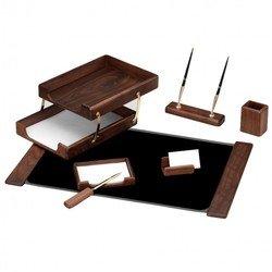 Набор настольный Good Sunrise T7D-35A деревянный 7 предметов фактура - орех оттенок натуральный