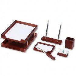 Набор настольный Good Sunrise W6B-35A деревянный 6 предметов фактура орех оттенок - темный