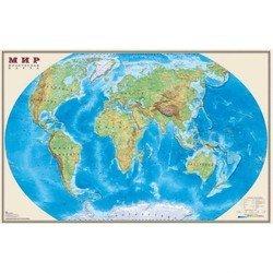 Настольное покрытие Бюрократ BDM2103F Карта Мира физическая 375ммх580мм