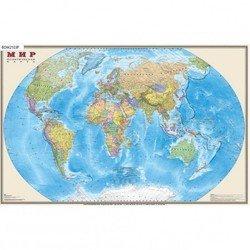 Настольное покрытие Бюрократ BDM2103P Карта Мира политическая 375ммх580мм