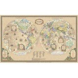Настольное покрытие Бюрократ BDM2111 Карта Мира историческая 375ммх580мм