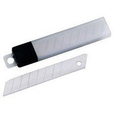 Запасные лезвия 18 мм к канцелярским ножам (Alco 123) (12шт)