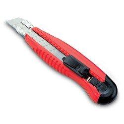 Нож канцелярский (KW-trio 3713red) (красный)