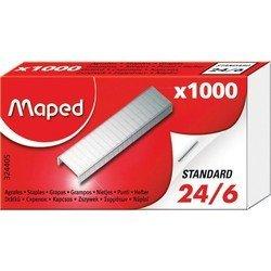 Скобки Maped из высококачественной стали 24/6 1000 штук в коробке