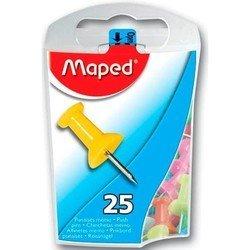 Кнопки для пробковых досок Maped цветные 25штук в диспенсере ассорти