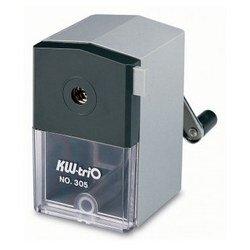 Точилка механическая KW-trio 305Agr для карандашей до 8 мм пластиковый корпус 70x79x90мм серый