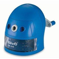 Точилка механическая KW-trio 314Ablu Робот пластиковый корпус синий 97х130х110мм