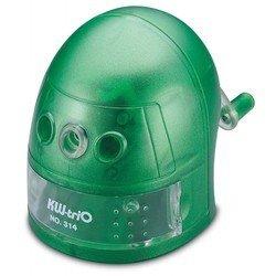 Точилка механическая KW-trio 314Agrn Робот пластиковый корпус зеленый 97х130х110мм