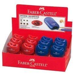 Точилка Faber-Castell 183501 с двумя отверстиями красный/синий
