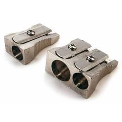 Точилка Rapesco R14DCDM2 мини два отверстия для карандашей диам 6 и 8мм сталь