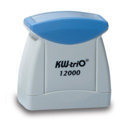 Штамп KW-trio 12008blue со стандартным словом ОБРАЗЕЦ пластик цвет печати синий