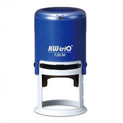 Самонаборный круглый штамп KW-trio 12636-R2 диам 45мм 2 круга