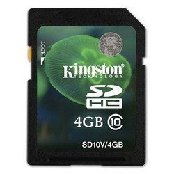 ��������� ���� ����� sdhc 4gb class10 kingston sd10v/4gbcp oem