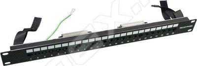 19 неэкранированная коммутационная панель с 24 портами RJ-45 и разъем