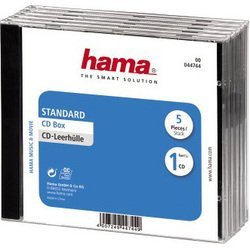 Коробка Hama H-44744 Jewel для CD 5 шт (прозрачный/черный)