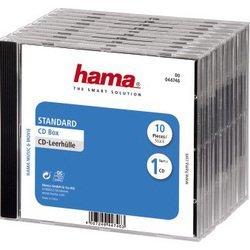 Коробка Hama H-44746 Jewel Case для 1 CD 10 шт (прозрачный/черный)