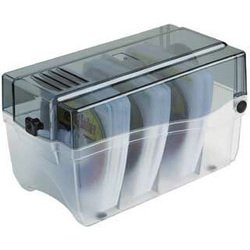 Коробка Hama H-49827 Sleeve Box для 150 CD (прозрачный/графит)