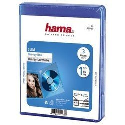 ������� ��� Blu-ray ������ �� 3 �� (Hama H-51469 Slim Case) (�����)