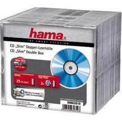 Коробка Hama H-62610 Slim Double Box для 2хCD 25 шт (прозрачный)