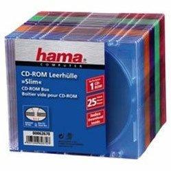 Коробка Hama H-62670 Slim для 1хCD 25 шт (5 цветов)