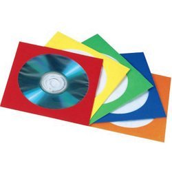 Конверты Hama H-78367 для CD/DVD 25 шт (5 цветов)