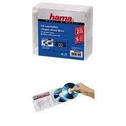 Коробка Hama H-83995 Standard Super Jewel для 2хCD/DVD 5 шт (прозрачная)