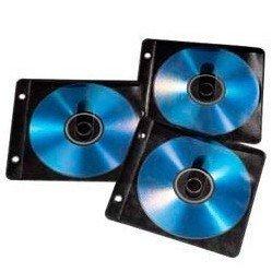 Конверты Hama H-84102 для 2 CD/DVD 50 шт (черный/прозрачный)