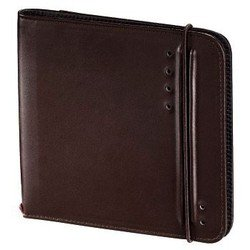 Портмоне Hama H-95607 для 24 CD/DVD + 3 SD Ready for Business (коричневый)