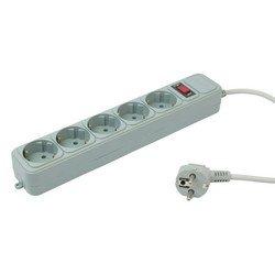 Сетевой фильтр PC Pet AP01006-5-GR 5м (5 розеток) (серый)