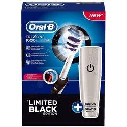 Электрическая зубная щетка + бесплатный футляр для путешествий (Braun Oral-B Trizone 1000) (черный)