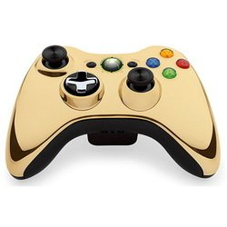 microsoft xbox 360 wireless controller chrome series (43g-00055) (золотистый)