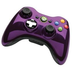 microsoft xbox 360 wireless controller chrome series (43g-00062) (фиолетовый)