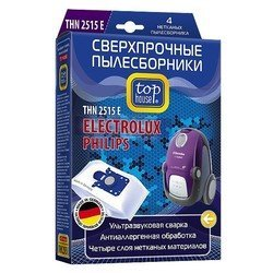 Пылесборник для мешковых пылесосов ELECTROLUX и PHILIPS (TOP HOUSE THN 2515 E) (4 шт)