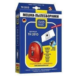 Пылесборники 5 шт. +  1 микрофильтр для мешковых пылесосов Samsung, LG-Electronics, AKIRA, Alpina, Atlanta (TOP HOUSE TH 201D)