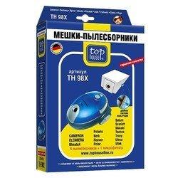 Пылесборники 5 шт. +  1 микрофильтр для мешковых пылесосов Bork, Saturn, Vitek, Scarlett (TOP HOUSE TH 98 X)