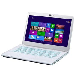 "Sony Vaio SV-E14A2V1R/WI (Core i5 2500 Mhz, 14"", 1366x768, 4096Mb, 500Gb, AMD Radeon HD 7670M, DVD-RW, Wi-Fi, Bluetooth, Win 8 64) White"
