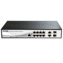 Коммутатор D-Link 8 портов 10/100Base-T + 2 комбо-порта 10/100/1000BASE-T/SFP (DES-1210-10/ME/B1A)