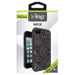 ��������� �����-�������� ��� apple iphone 5, 5s (ifrogz mix flower ip5mix-bfl) (������)