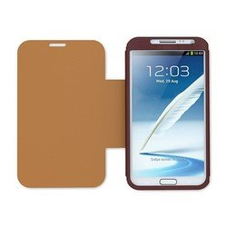 чехол-книжка для samsung galaxy note 2 n7100 (iluv pocket agent ics7j345cor) (коричневый)