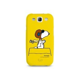 ����������� �����-�������� ��� samsung galaxy s3 i9300 (iluv snoopy charater iss254syel) (������)