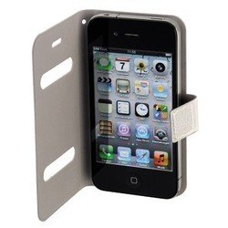 чехол-книжка для apple iphone 4, 4s (hama diary case h-103557) (белый)