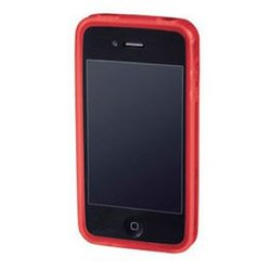 бампер для apple iphone 4, 4s (hama edge protector h-107167) (красный)
