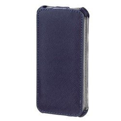 чехол-флип для apple iphone 5, 5s (hama flap case h-118804) (синий)