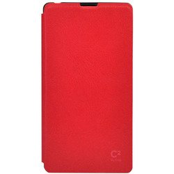 чехол-книжка для sony xperia z1 (uniq c2 cool in red sxz1gar-c2red) (красный)