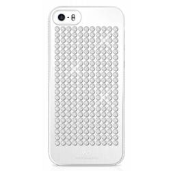 чехол-накладка для apple iphone 5, 5s  (white diamonds the rock 1210rck47) (серебристый)