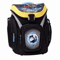 Ранец школьный с аксессуарами 3 предмета Lego Chima Lion Explorer черный/синий 00124741