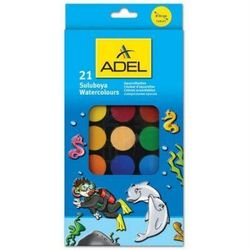 Краски акварельные Adel 30 мм (229-0931-000) (21 цвет)